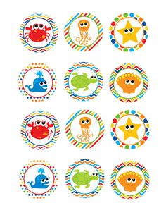 Items similar to Printable Cupcake Toppers: Under the Sea Theme on Etsy