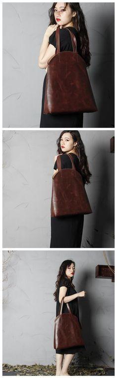 Handmade Leather Shoulder Bag For Women Shopper Bag Women Tote Women's Fashion Bag Handbag