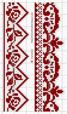 Free Cross Stitch Charts, Filet Crochet Charts, Cross Stitch Borders, Knitting Charts, Cross Stitch Patterns, Crochet Border Patterns, Hand Embroidery Design Patterns, Cross Stitch Tree, Cross Stitch Flowers