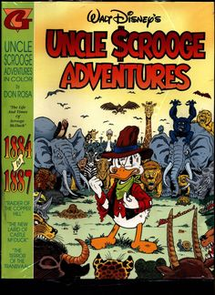 "SEALED Walt Disney's Uncle Scrooge McDuck Comics DON ROSA in Color #2 ""1884-1887"" N M With Card"