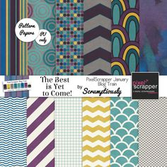 Free printable papers | Scrumptiously PixelScrapper January 2014 Blog Train