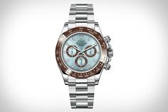 Rolex Oyster Perpetual Cosmograph Daytona Platinum Watch (love the color combos!).