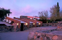 Visit Frank Lloyd Wright's western home -- #Taliesin West. Unique architecture and an ongoing home to his teachings. #Arizona #travel