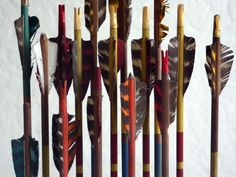 I am currently obsessed with vintage archery arrows, I may or may not have purchased some from ebay.