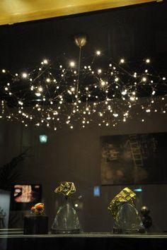 Lustre design original / en nickel / à LED - UNIVERSE by Jan Pauwels - Quasar Holland
