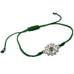 Shanti Boutique Heart Chakra Green Adjustable Charm Bracelet