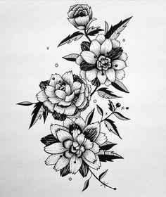 ✖️ Dark flowers... Tattoo design