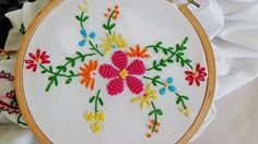 cut work embroidery tutorial-Hand embroidery. - YouTube