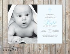 Para imprimir bautismo invitar invitación de bautizo para Foto Iman, John Kim, John Wilson, Christening, Sons, Party Ideas, Graphics, Face, Handmade