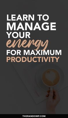 How to reach maximum productivity? Learn to manage your energy! Figure out what is the most productive time of the day for you to get done more! Effective energy management is an important part of creating a successful business. Learn to manage your energy for maximum productivity! #productivity #beingproductive #goalsetting #energymanagement #selfcare