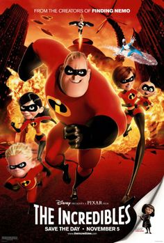 The Incredibles is an American computer-animated superhero film released in the century. The film is directed by Brad Bird. Produced by Pixar Animation Studios and released by Walt Disney Pictures, the movie stars Craig T. Kid Movies, Family Movies, Cartoon Movies, Great Movies, Movies And Tv Shows, Movie Tv, Watch Movies, Movies Point, Amazing Movies
