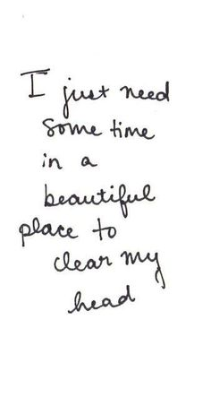 We all need time to clear our heads #Fashiolista #Inspiration