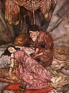 Art by Edmund Dulac (1909) from RUBAIYAT OF OMAR KHAYYAM.