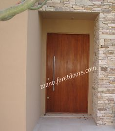 Modern door, vertical grain