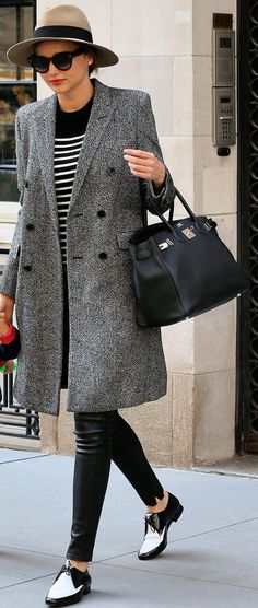 Miranda Kerr made the most of a cold Spring day with her chic black | Miranda Kerr Has an Outfit For Just About Everything | POPSUGAR Fashion