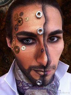 ✄ Steampunk Hero Makeup Tutorial ✄ #steampunk #steampunkhero #makeup #makeuptutorial #steampunkmakeup #steampunkmakeuptutorial #steampunkheromakeup #halloweenmakeup #vintage #malemakeup #makeupformen #whovian #drwho #futuristicmakeup #lindseystirling #airship #cosplay #cosplayer #robot #droid #android #robotmakeup #androidmakeup #trucco #truccosteampunk #truccocarnevale #carnevale #truccorobot #eroesteampunk #fantasy #truccofantasy