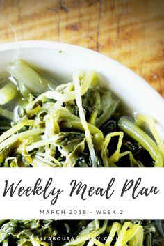 Picture of cooked greens with Weekly Meal Plan title across Easy Meal Prep, Quick Easy Meals, Easy Delicious Recipes, Yummy Food, Healthy Snacks, Healthy Eating, Mummy Bloggers, Crockpot Dishes, Meal Planner