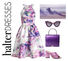 """Untitled #58"" by alexiab91 ❤ liked on Polyvore featuring Parker, ALDO, ESCADA, Prada and halterdresses"