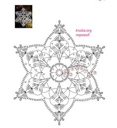 I love snowflakes. I love to crochet them and to decorate with them. We use them as Christmas tree ornaments and on hanging wreath. Every year I'm asked to share crochet snowflakes diagrams/p… Crochet Snowflake Pattern, Crochet Stars, Christmas Crochet Patterns, Holiday Crochet, Crochet Snowflakes, Crochet Mandala, Thread Crochet, Crochet Motif, Crochet Doilies
