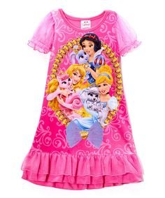 Loving this Pink Princess Ruffle Nightgown - Toddler on #zulily! #zulilyfinds