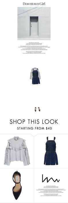 """""""Downtown Girl"""" by butterflykisses89 ❤ liked on Polyvore featuring Jean-Paul Gaultier, Steve Madden, StreetStyle, citygirl, streetfashion, downtowngirl and demindress"""