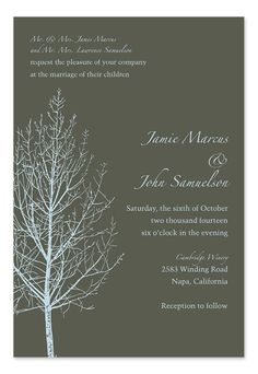 Waiting for Winter - Wedding Invitations by Invitation Consultants. (Item # IC-GD-KG-100 )