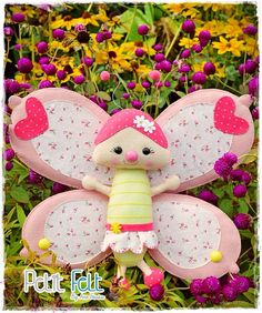 Felt butterfly - borboleta de feltro