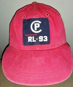 Vintage Rare Red Ralph Lauren POLO RL-93 Patch cap 1993