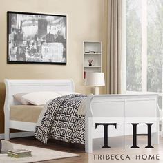 Tribecca Home TRIBECCA HOME Canterbury Louis Phillip White Queen-size Sleigh Bed $399