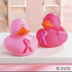Pink Ribbon Rubber Duckies - for the cause!