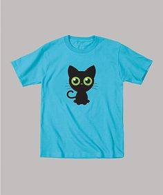 09d2d1c13adc3 Look at this Turquoise Black Kitty Tee - Toddler Baby Shirts, Cute Shirts,  Lil