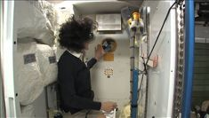 Tour the International Space Station. Bedroom, bathroom, and kitchen included.