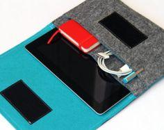 Mini IPAD Leather Sleeve en Veg complet par BayTowneLeatherUSA