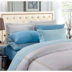 Peach Couture Couture Home 6 Piece Sheet Set Size: King, Color: Light Blue