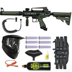 Tippmann Cronus Tactical Olive Paintball Marker Gun Power Package