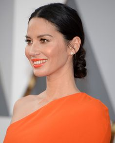 The most flawless beauty looks at the 2016 Oscars Sleek Hairstyles, Hairstyles For Round Faces, Different Hairstyles, Celebrity Hairstyles, Wedding Hairstyles, Oscars, Slicked Back Ponytail, Sleek Updo, Red Carpet Hair