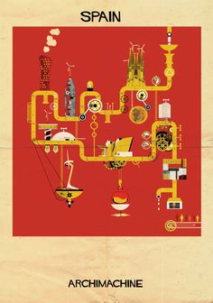 Federico Babina, the Barcelona-based artist who brought us 'ARCHIST', is back with another architecture-inspired series of imaginative illustrations. This time he's set on creating giant machines with the monuments and landmarks of different countries in his collection called 'ARCHIMACHINE'. The series depicts 17 machines, each representing a country's architecture and culture. For Babina, the architecture […]