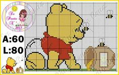 Trendy crochet patterns disney winnie the pooh ideas Cross Stitch For Kids, Cross Stitch Books, Cross Stitch Baby, Cross Stitch Embroidery, Cross Stitch Patterns, Disney Winnie The Pooh, Baby Disney, Crochet Shrug Pattern, Crochet Patterns