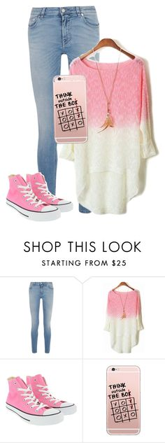 """""""Think Outside the Box 📦"""" by smileforever1654 ❤ liked on Polyvore featuring Givenchy, Converse and Pink"""