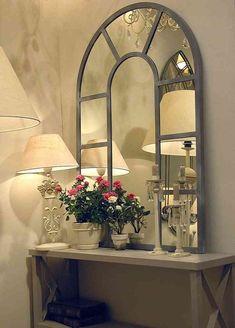 Muebles y auxiliares en hierro forjado Decor, Hallway Decorating, Interior Decorating, Metal Wall Decor, Foyer Decorating, Clock Wall Decor, Home Decor, Mirror Decor, Hall Mirrors