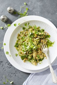 "This protein-packed riff on risotto will have you saying ""goodbye"" to rice for good. Click through for more ways to get into a quinoa groove."