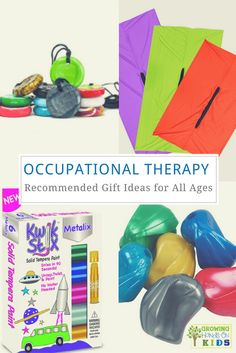 Occupational therapy recommended gift ideas for children of all ages. via /growhandsonkids/