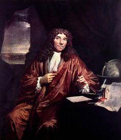 Anthonie van Leeuwenhoek. Geboren op 24 oktober 1632 overleden op 26 augustus 1723. Hij was een Nederlandse handelsman, landmeter, wijnroeier, glasblazer en microbioloog. Maar hij is vooral bekend geworden om zijn microscoop waarmee hij micro organismen deed onderzoeken zoals: bloed, koeienogen en zaadcellen. Ook ging Leeuwenhoek niet meer op de middeleeuwse teksten af, hij deed alles zelf onderzoeken.