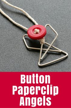 Button Paperclip Angels • The Crafty Mummy Popsicle Stick Christmas Crafts, Christmas Crafts For Toddlers, Xmas Crafts, Toddler Crafts, Diy Christmas Gifts, Christmas Fun, Fun Crafts, Christmas Art Projects, Clips