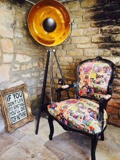 Fancy - Superman Comic Fabric Armchair