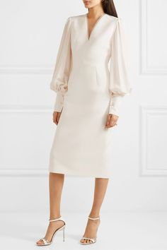 Find and compare Essi tulle-trimmed crepe midi dress across the world's largest fashion stores! Fairy Wedding Dress, Garden Wedding Dresses, Jimmy Choo, Nice Dresses, Short Dresses, Dresses For Work, Elegant Outfit, Classy Dress, Dress Outfits