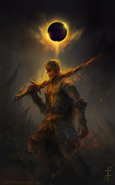 Cinders – Dark Souls III fan art by Ludvik Skopalik