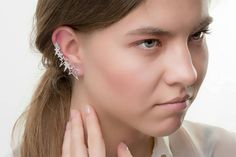 Stars αυτί σφαλιάρα Earrings925 μασίφ ασήμι