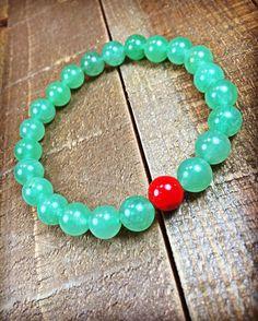 Jade Bracelet beaded bracelet stretch bracelet by SJIJewelry