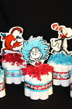 similar to Dr. Seuss Baby Shower Mini Diaper Cake Centerpieces on Etsy Items similar to Dr. Seuss Baby Shower Mini Diaper Cake Centerpieces on Etsy similar to Dr. Seuss Baby Shower Mini Diaper Cake Centerpieces on Etsy Diaper Shower, Baby Shower Diapers, Baby Shower Cakes, Baby Boy Shower, Baby Shower Gifts, Dr. Seuss, Diaper Cake Centerpieces, Baby Shower Centerpieces, Cake Decorations